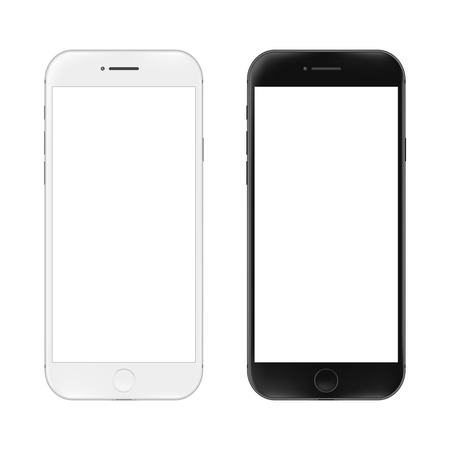 Realistic mobile phone. Smartphone illustration isolated on white background. Graphic concept for your design