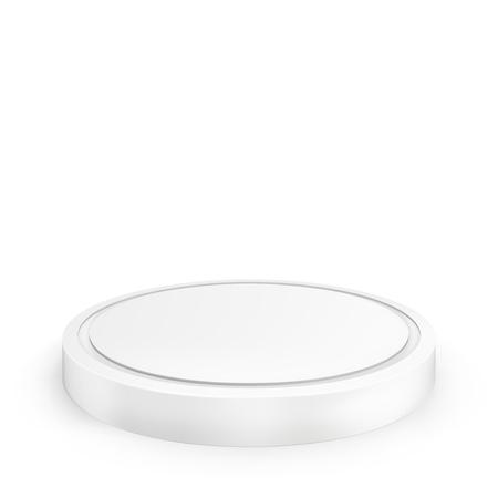 빈 연단. 흰색 배경에 고립 된 그림입니다. 디자인을위한 그래픽 개념