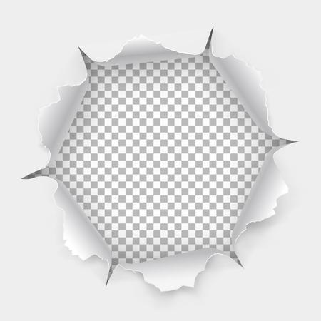 透明な背景に影でリッピング エッジと紙の穴を引き裂かれました。あなたのデザインのグラフィック コンセプトがつながっています。
