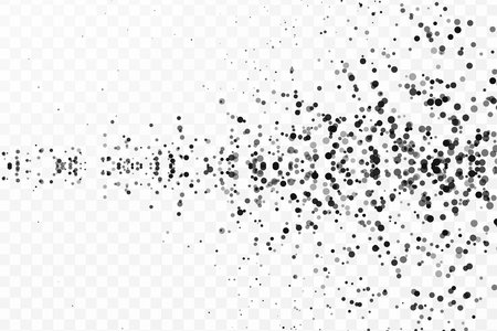 Abstract particles on transparent background. Graphic concept for your design. Vectores