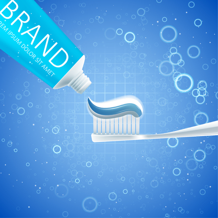 Whitening toothpaste ads. Graphic concept for your design
