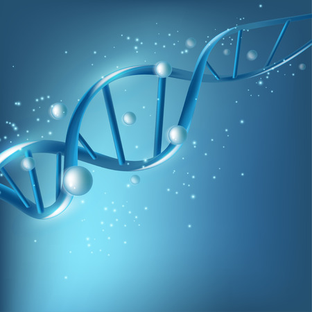Science template for your design. DNA concept structure illustration