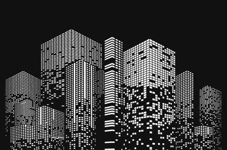 Building and city illustration. Illustration