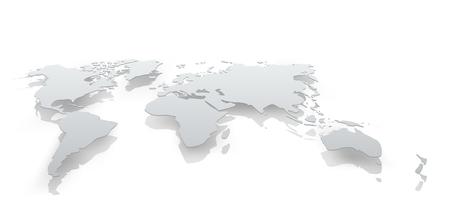 Bild von Weltkarte Papier. Die Konzeptillustration Standard-Bild - 92162251