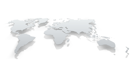 Image of world map paper. The concept illustration Stock Photo