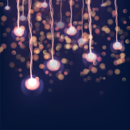 Merry Christmas and Happy New Year lights. Bright abstract blurred lights pattern.