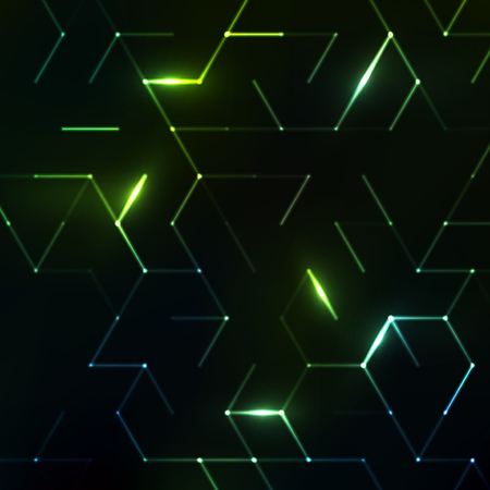 Abstract polygonal space. Background with connecting dots and lines. Graphic concept for your design Ilustrace