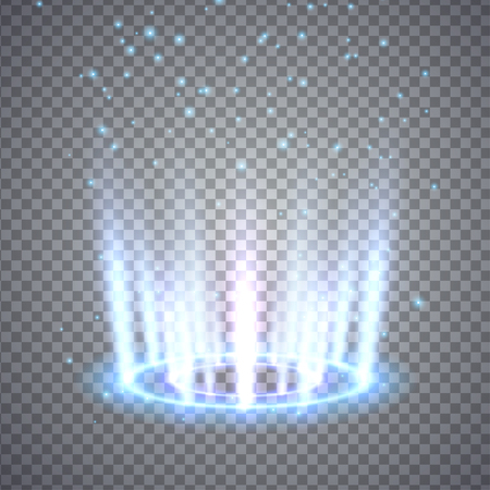 Glittering magic fantasy portal. Illustration isolated on transparent background. Graphic concept for your design