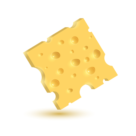 The cheese. Illustration isolated on white background. Graphic concept for your design Stock Photo