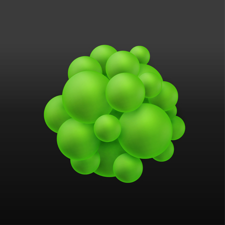 Abstract molecules structure with particles. Atoms. Graphic concept for your design