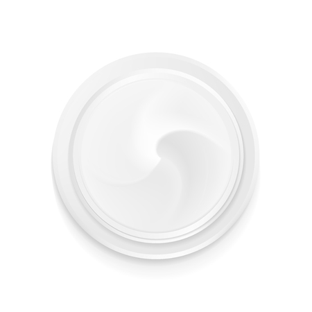 Top view hygienic cream. Illustration isolated on white background. The graphic concept for your design