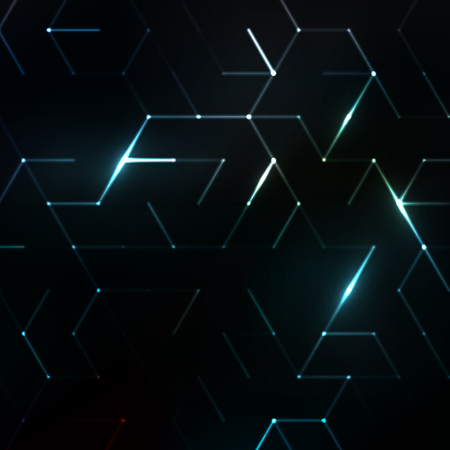 Abstract polygonal space. Background with connecting dots and lines. Graphic concept for your design Ilustração