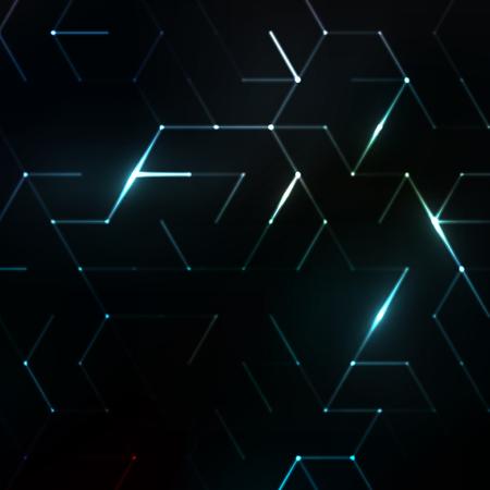 抽象ポリゴン空間。ドットと線を接続した背景。デザインのグラフィックコンセプト