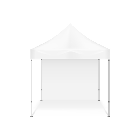 Folding tent. Illustration isolated on white background. Graphic concept for your design
