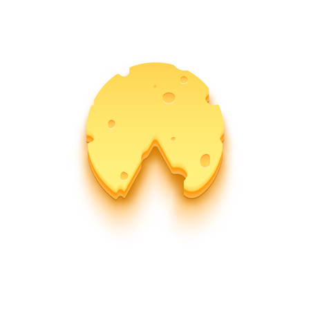 Piece of cheese icon. Illustration isolated on white background. Graphic concept for your design