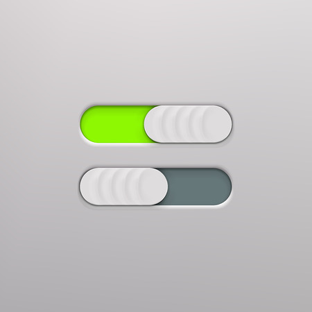 Realistic icon On and Off Toggle switch button. Graphic concept for your design