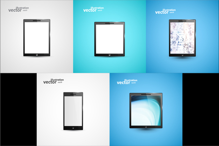 Tablet PC Computer Illustration, Graphic Concept For Your Design. 向量圖像