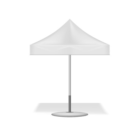 Garden white parasol. Illustration isolated on white background. Graphic concept for your design