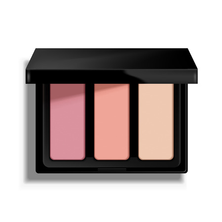 Modern eye shadow palette. Mockup illustration isolated on background. Graphic concept for your design