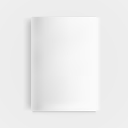 Closed vertical magazine, brochure or notebook template. Illustration isolated on background. Graphic concept for your design