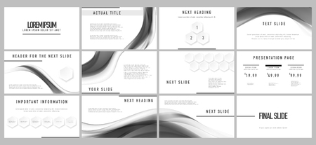 Business presentation template. Graphic concept for your marketing and advertising design Illustration