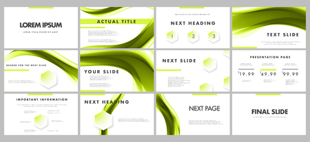 Business presentation template. Graphic concept for your marketing and advertising design Vectores