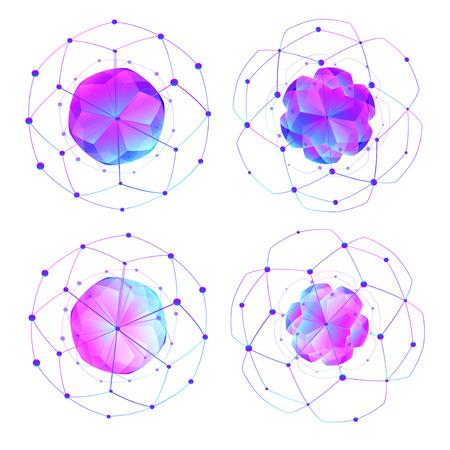 Abstraits formes modernes polygonales basses. Illustrations isolées sur fond blanc. Élément créatif de modèle. Concept graphique pour votre projet de design