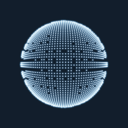 Abstract sphere consisting of points. Technology image of globe. Graphic concept for your design