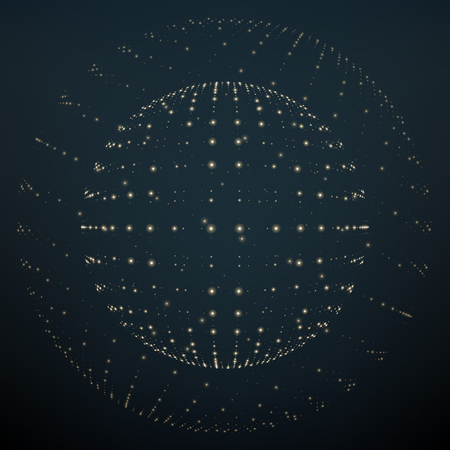 Abstrakcyjne cząstki światła. Ilustracja cząsteczek i atomów. Koncepcja graficzna dla Twojego projektu