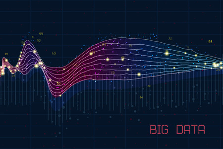 Abstract infographics visualization. Big data code representation. Futuristic network or business analytics. Graphic concept for your design 向量圖像
