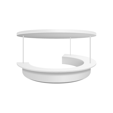 Empty retail stand. Illustration isolated on white background. Graphic concept for your design Standard-Bild