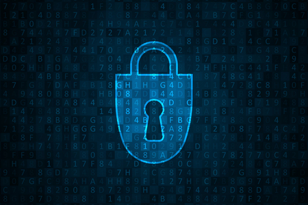 Cyberbeveiliging illustratie. Futuristische netwerk- of bedrijfsanalyses. Grafisch concept voor uw ontwerp Vector Illustratie