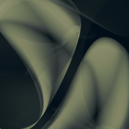 Abstract wave illustration. Graphic concept with glowing flowing elements on dark background for your design Ilustração