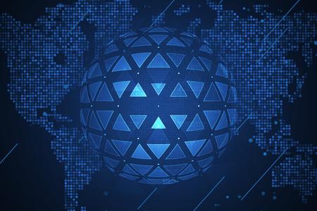 Global network security. Futuristic network or business analytics. Graphic concept for your design Ilustração Vetorial