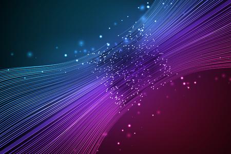 Data connection speed line. Futuristic network representation. Graphic concept for your design Ilustração Vetorial