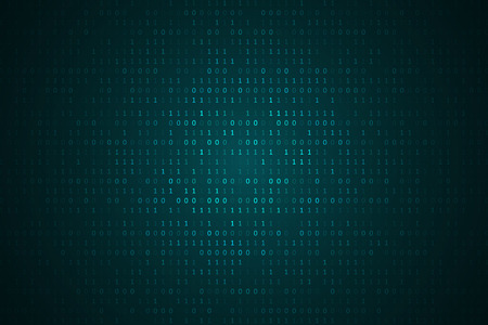 Binary computer code background, abstract cyberspace with digital code. Graphic concept for your design
