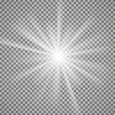 Light effect on transparent background. Graphic concept for your design