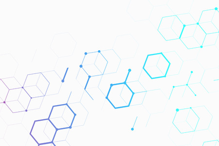 Abstract molecules design. Molecular structure and communication. Background with connecting dots and lines. Graphic concept for your design