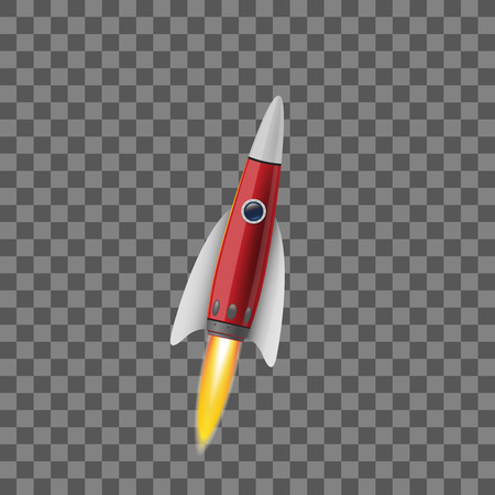 Space rocket concept. Illustrations isolated on transparent background. Creative idea for your design Ilustrace