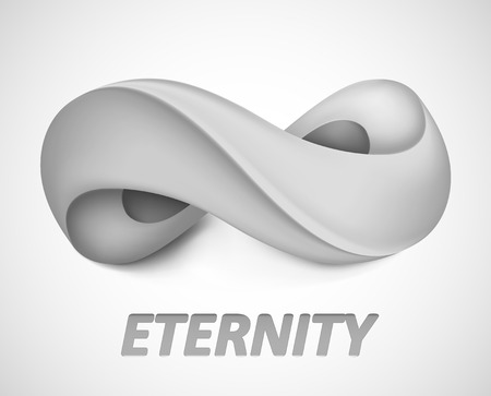 Infinity symbol. Illustration isolated on background. Graphic concept for your design