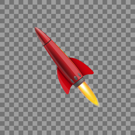Space rocket concept. Illustrations isolated on transparent background. Creative idea for your design Çizim