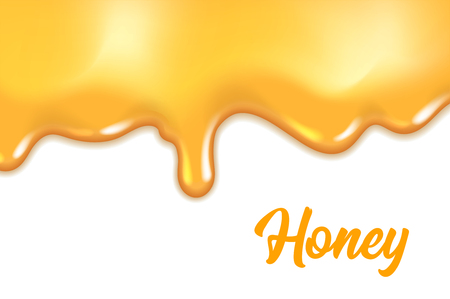 Dripping honey background. Graphic concept for your design