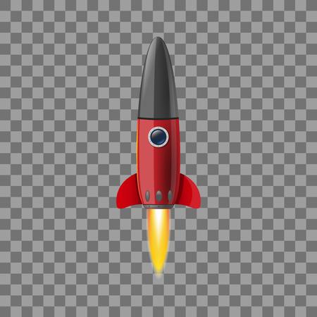 Space rocket concept. Illustrations isolated on transparent background. Creative idea for your design Illusztráció