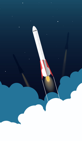 Space rocket concept. Creative idea for your design. Flat style illustration