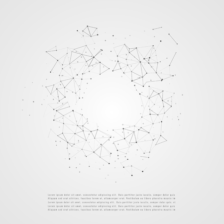 Global network connection. Composition concept of global business. Graphic concept for your design