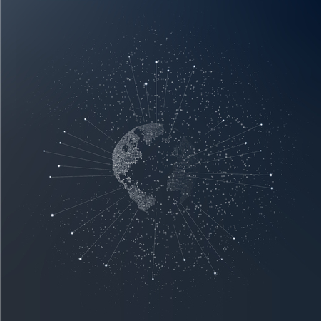 World map point. Global network connection. Graphic concept for your design