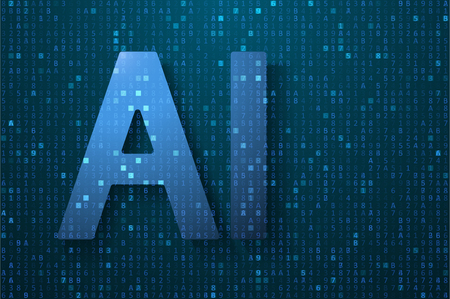 Artificial intelligence illustration. Digital computer code. Data transfer concepts in internet. Graphic concept for your design.