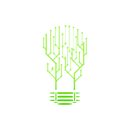 Circuit board of information technology. Graphic concept for your design
