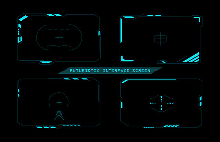 Futuristic interface screen design. Virtual reality technology display. Graphic concept for your design