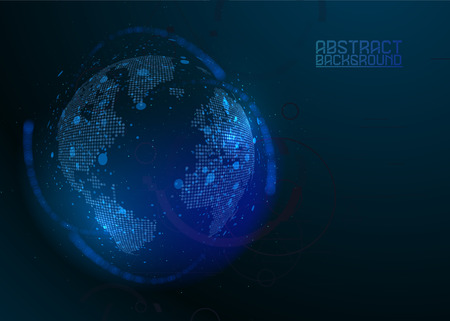 Futuristic globalization interface. Composition illustration of global business. Graphic concept for your design